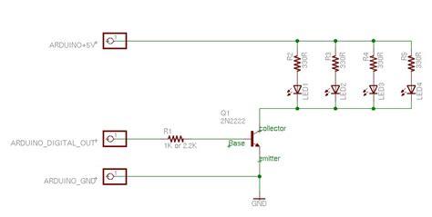 arduino transistor led driver interface circuits