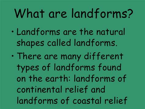 what are what are landforms