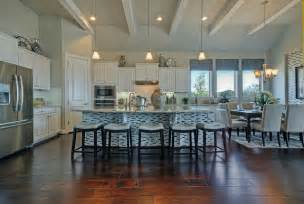 Kitchen Cabinets Off White White Ceiling Beams