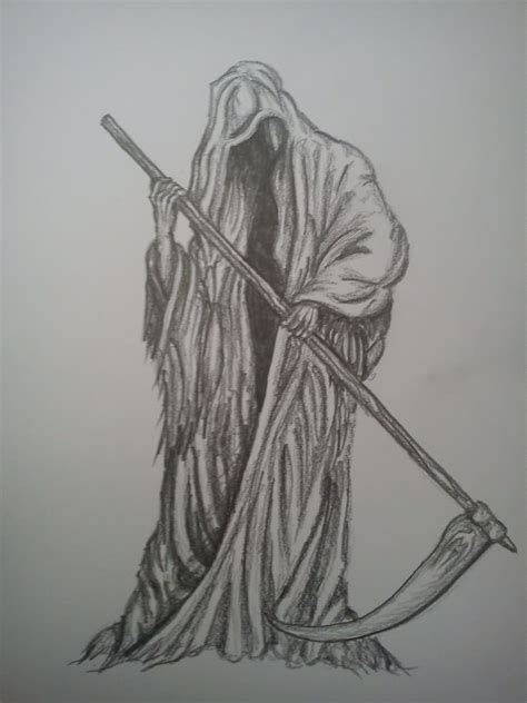 death tattoo design grim reaper design by beckie1994