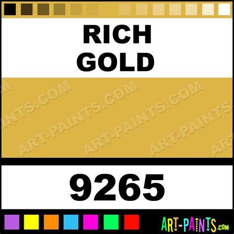 rich gold aquacote metallic metal and metallic paints 9265 rich gold paint rich gold color