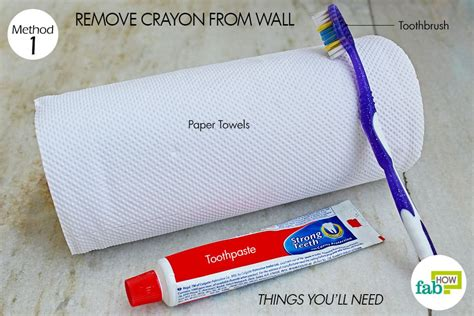 remove crayon from wall how to use toothpaste to clean and shine your home fab how