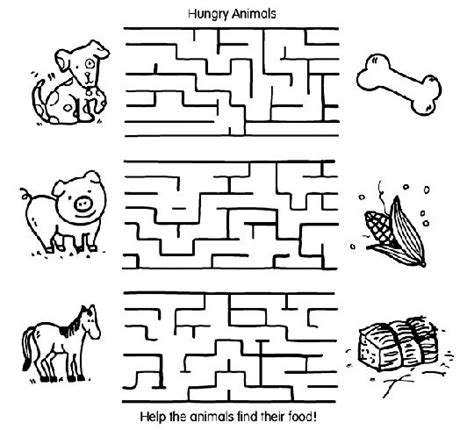 maze coloring pages printable coloring page for kids 187 best animal teaching resources images on pinterest