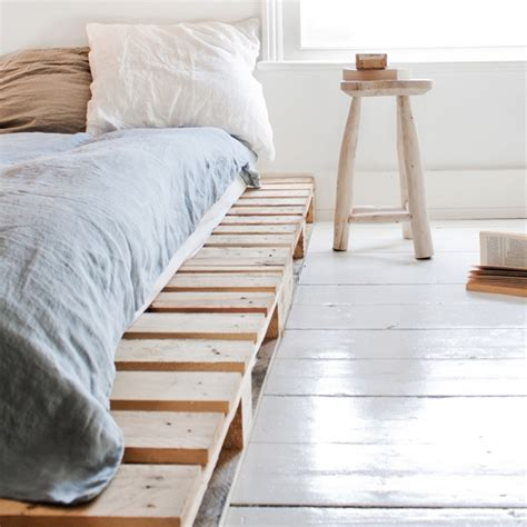 diy simple pallet bed frame diy pallet ideas creative diy projects for home
