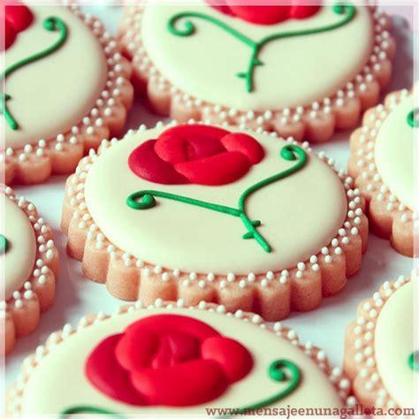 decoracion de galletas rosa galletas flores pinterest galletas