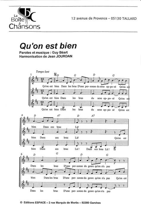 Partition de musique, éditeur de partitions pour chorale