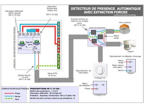 Installation Detecteur De Mouvement by Le Sch 233 Ma 233 Lectrique Et Le Branchement Du D 233 Tecteur De