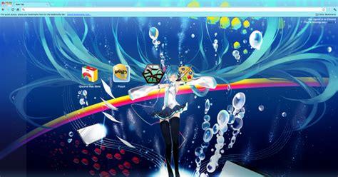 theme chrome hatsune miku hatsune miku underwater theme chrome theme themebeta