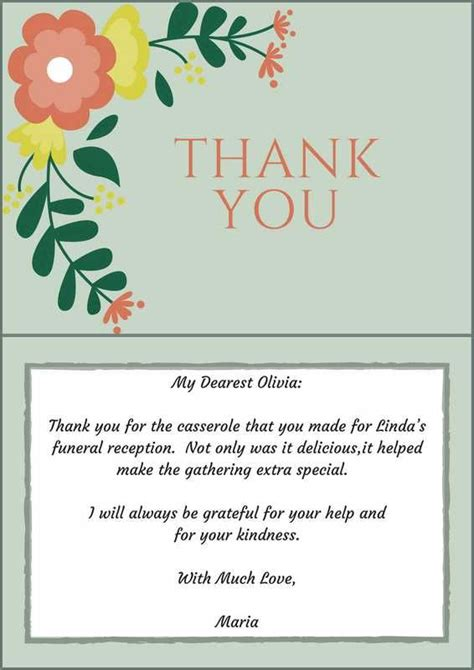 thank you letters after a funeral 33 best funeral thank you cards of as and note
