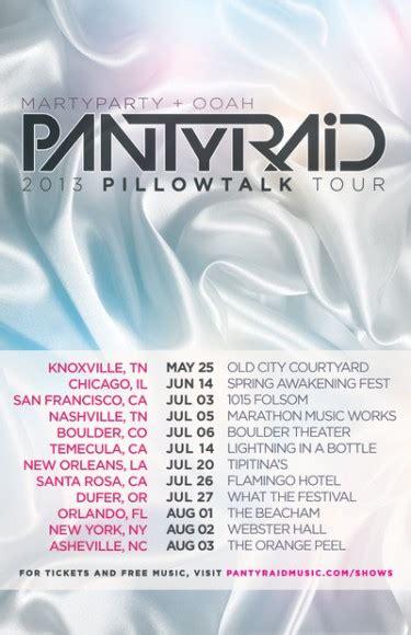 Pillow Talk Release Date by Pantyraid Announces Summer 2013 Pillow Talk Tour Dates