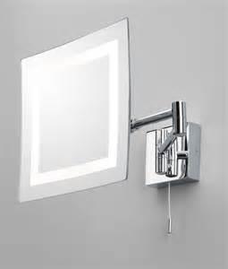 Vanity Extendable Mirror Bathroom Vanity Mirror Chrome Halogen Square