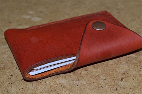 Leather Handmade - leather wallet wallet leather card holder leather handmade