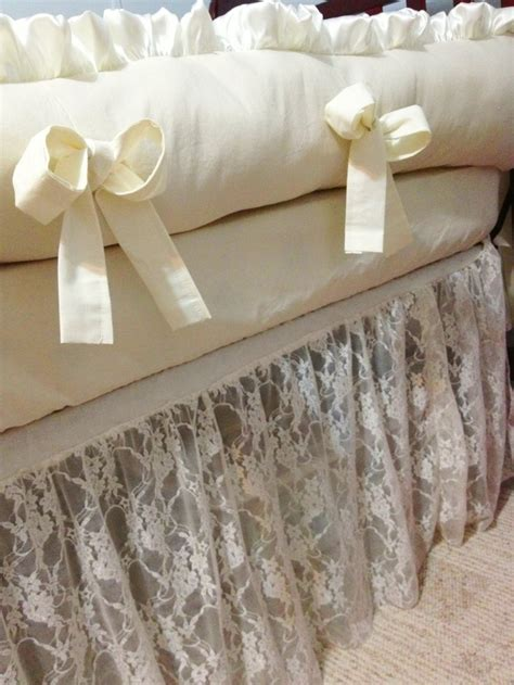 Lace Crib Bedding Ivory Lace Crib Bedding Set