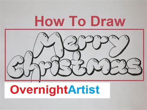 how to draw new year decorations letters cards ideas grafitti merry