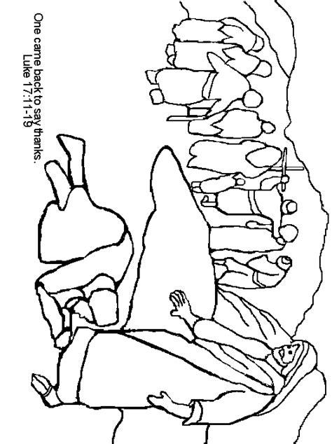 coloring pages jesus heals leper free jesus heals 10 lepers coloring pages