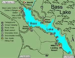 bass lake california map bass lake california map california map