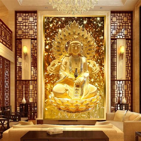 buddha wallpaper for bedroom online get cheap wall papers flowers aliexpress com