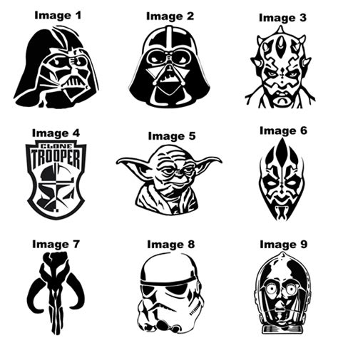 build your own custom tungsten carbide star wars heads ring