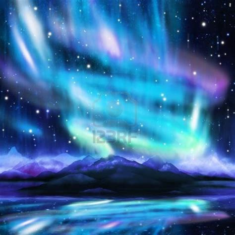 15524593 northern lights aurora borealis dramatic landscape