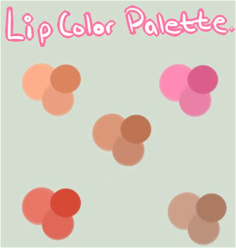 Make Lip Color Pallette color palette for by androidpanda on deviantart
