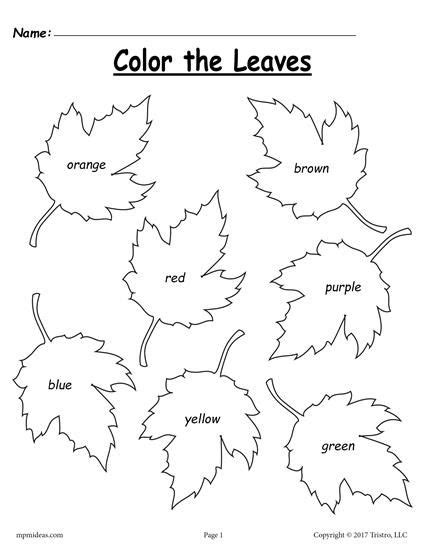 Fall Worksheets For