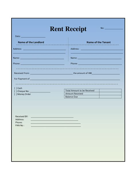 rental house template house rental invoice template in excel format from