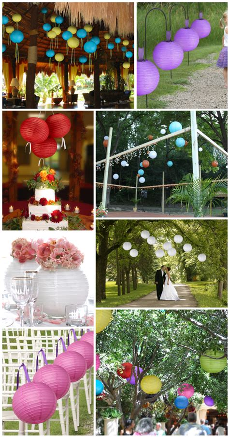 decorate your wedding with paper lanterns