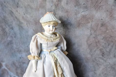 parian bisque bonnet doll parian bisque doll with molded bonnet from terristreasures