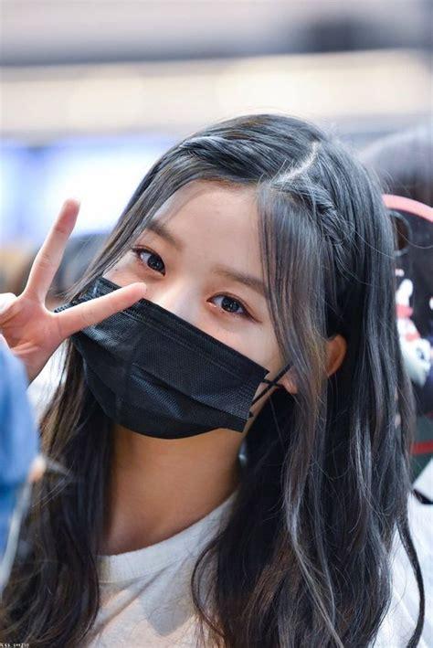 jangan lupa pakai masker ya sayang   gaya rambut korea gadis korea gadis ulzzang