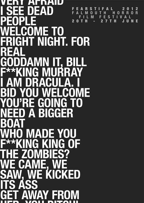 horror film quotes mp3 poster sam bennett