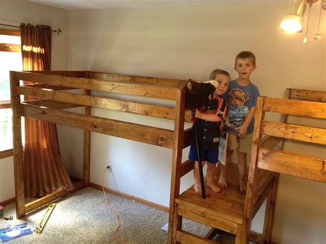 ana white double wide camp loft bed diy projects
