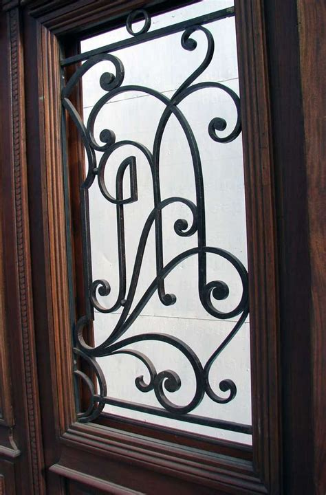 Wrought Iron Door Inserts by Antique Entry Door Wrought Iron Inserts At 1stdibs