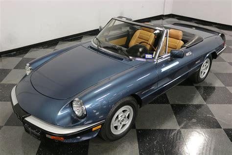 1988 Alfa Romeo Spider by 1988 Alfa Romeo Spider Veloce For Sale 76623 Mcg