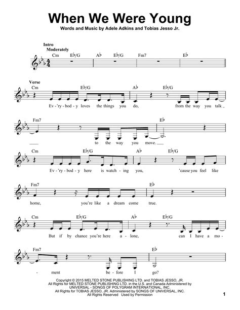 Download Song When We Were Young By Adele In Mp3 | adele when we were young sheet music