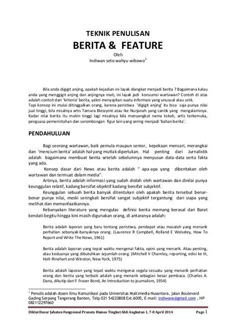 format naskah berita televisi teknik penulisan berita dan feature