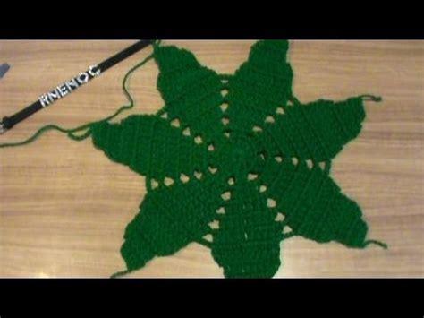 antel de noche buenas a crochet 2 de 2 como tejer base hojas flor nochebuena carpeta