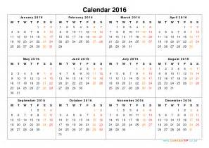 yearly calendar 2016 2017 calendar with holidays