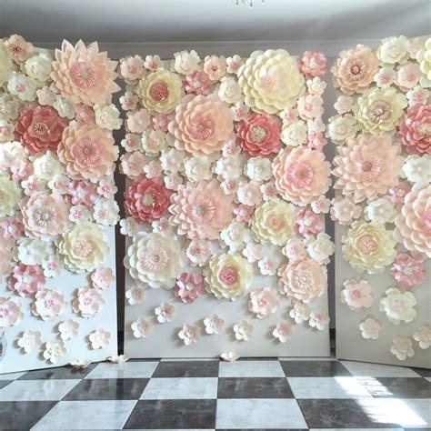 Wedding Backdrop With Paper Flowers by Planning A Wedding Or Any Other Special Event Paper