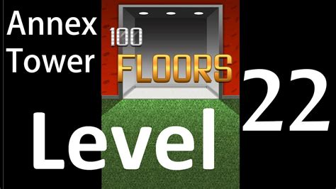 100 Floors Annex Level 22 by 100 Floors Level 22 Annex Tower Solution Walkthrough
