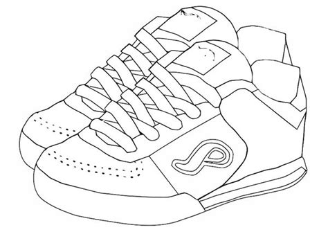 coloring page shoes the gallery for gt nike sneaker template