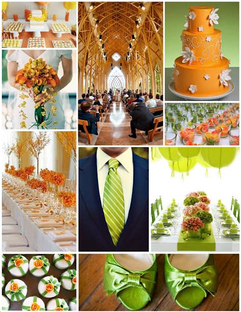 the awesometastic bridal green orange and pink inspiration