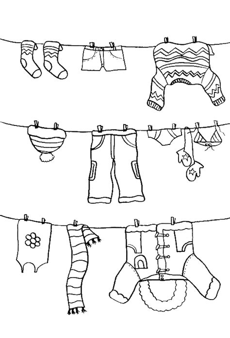 pictures color the winter clothes coloring pages winter