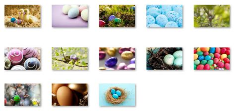 microsoft easter themes decorated easter eggs theme for windows 7