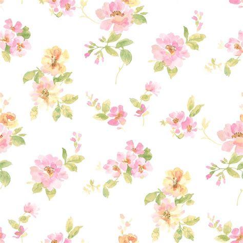Bando Flower Leaf Blue floral wallpaper