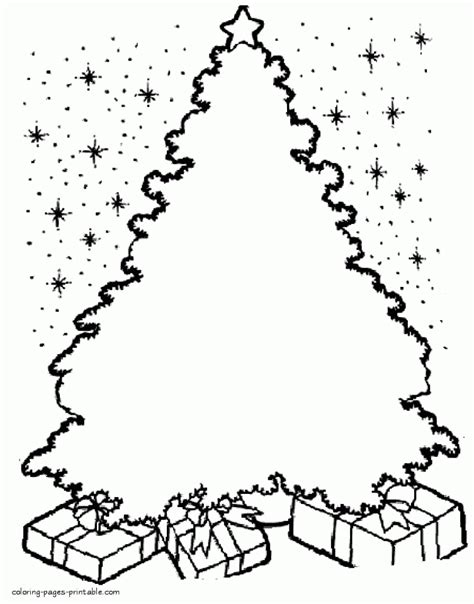 coloring page of a christmas tree with decorations get this christmas tree coloring pages for kids 37284