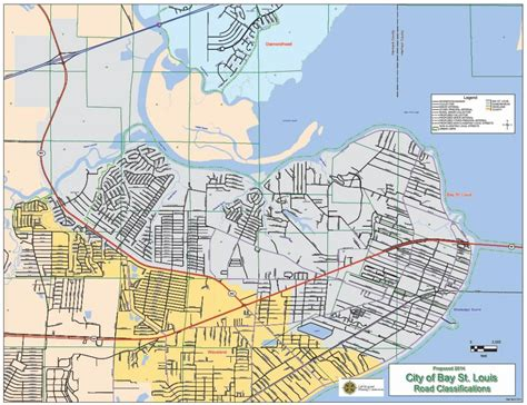 functional classification road maps gulf regional planning commission