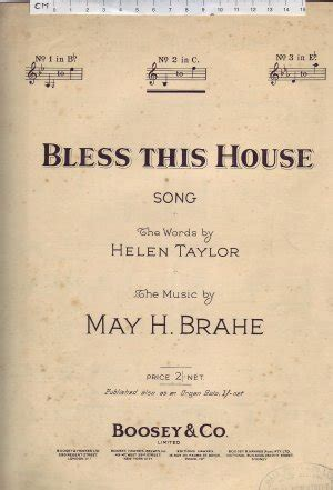 this old house sheet music bless this house by may h brahe old sheet music from dustymusic com