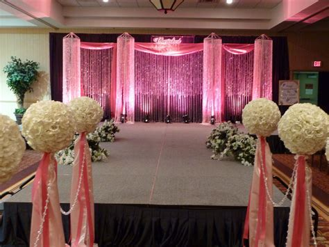 Stage decor for the bridal fashion show/ crystal beaded