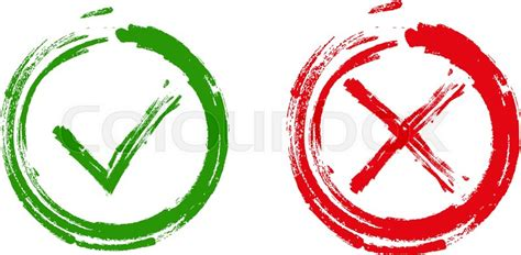 Free No Sign Up Background Check Tick And Cross Signs Green Checkmark Ok And X Icons Isolated On White Background