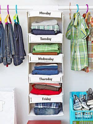 Days Of The Week Closet Organizer by Clean Your Kid S Closet Clothes Closet And Kid Closet